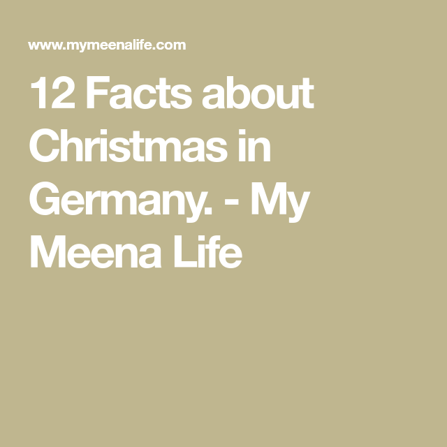 12 facts about christmas in germany