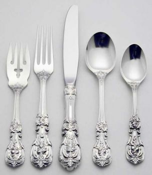 REED /& BARTON FRANCIS I STERLING SILVER 5 PIECES PLACE SETTING EXCELLENT