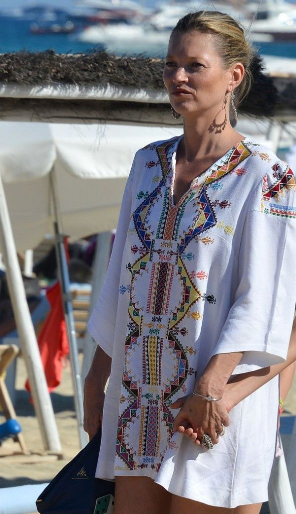 Kate Moss Off Duty Vacation Style #summer #mosstheboss