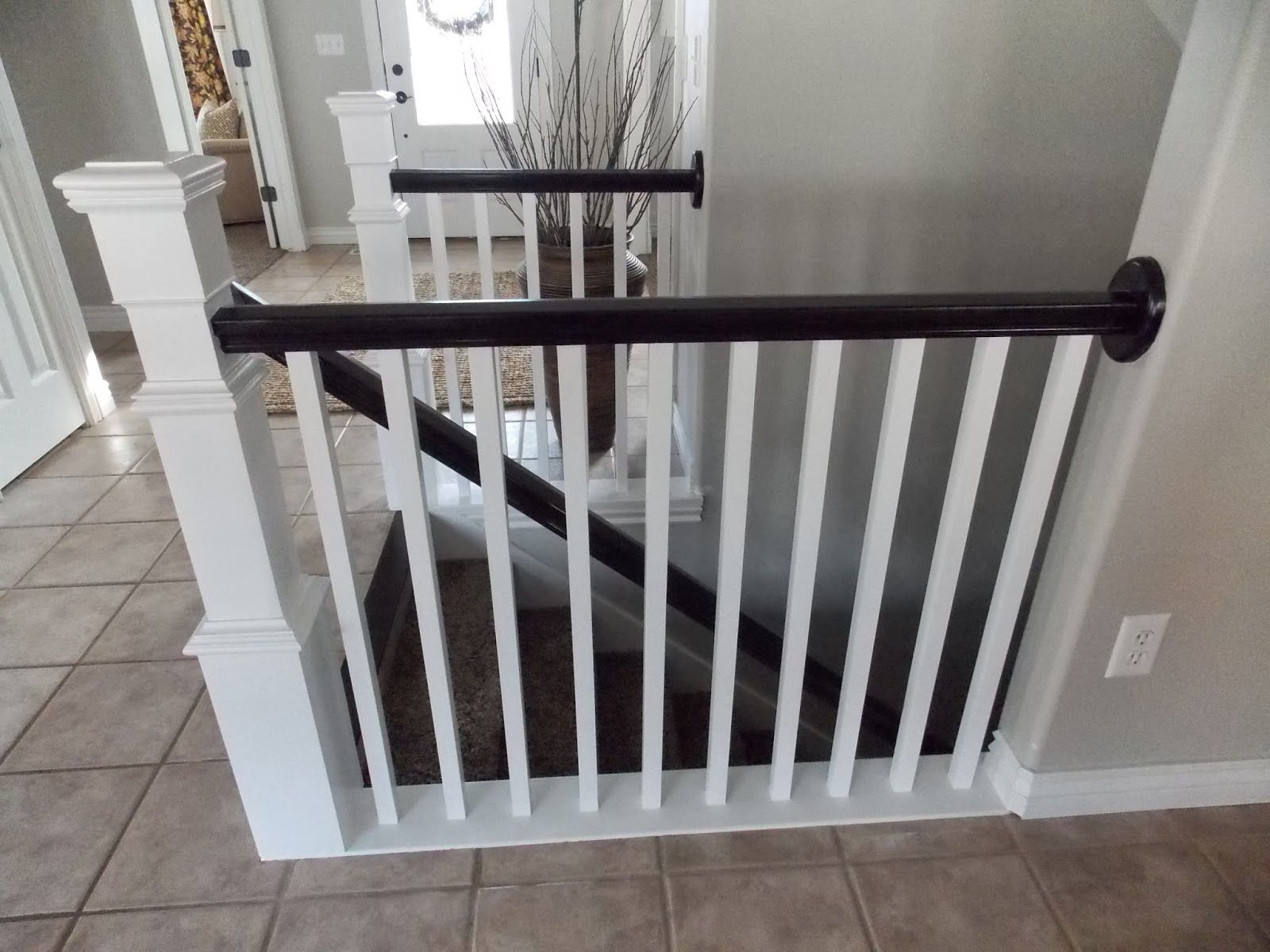 Best Stair Banister Redo With New Newel Post And Spindles Tda 640 x 480