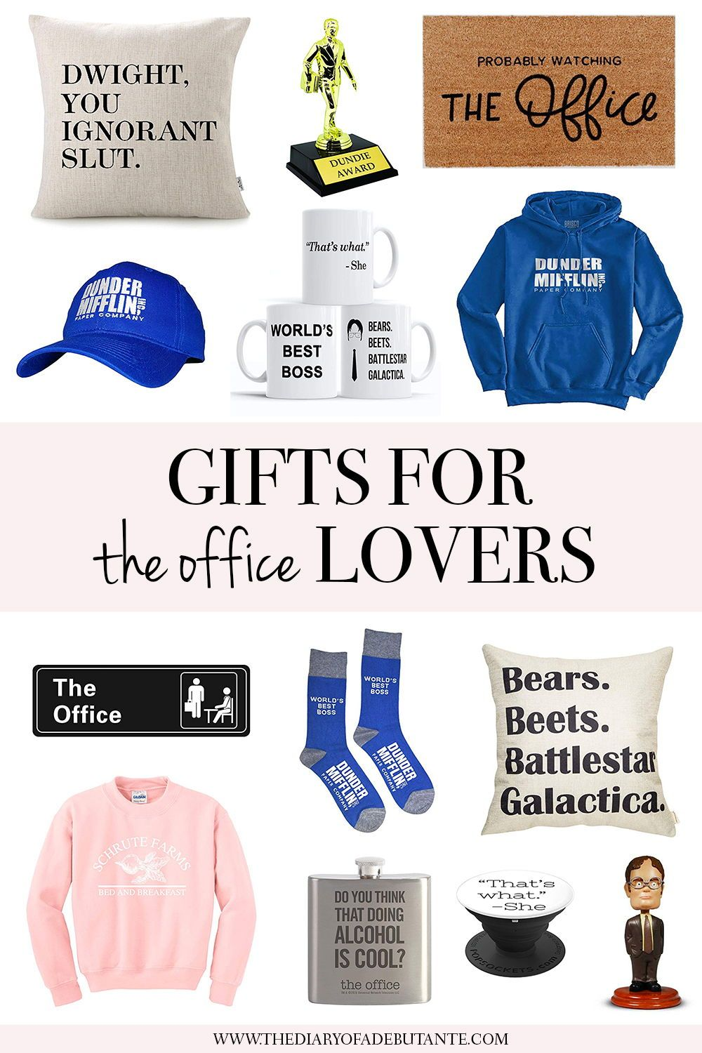 dfa778af0 It goes without saying that The Office is one of the best TV shows ever  created. This holiday gift guide features 16 of the best The Office themed  gift ...