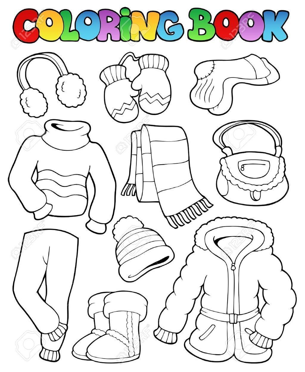 Ropa De Invierno Para Colorear Actividades De Invierno Para Ninos Dibujos De Invierno Invierno Preescolar