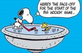 Snoopy & Woodstock play hockey