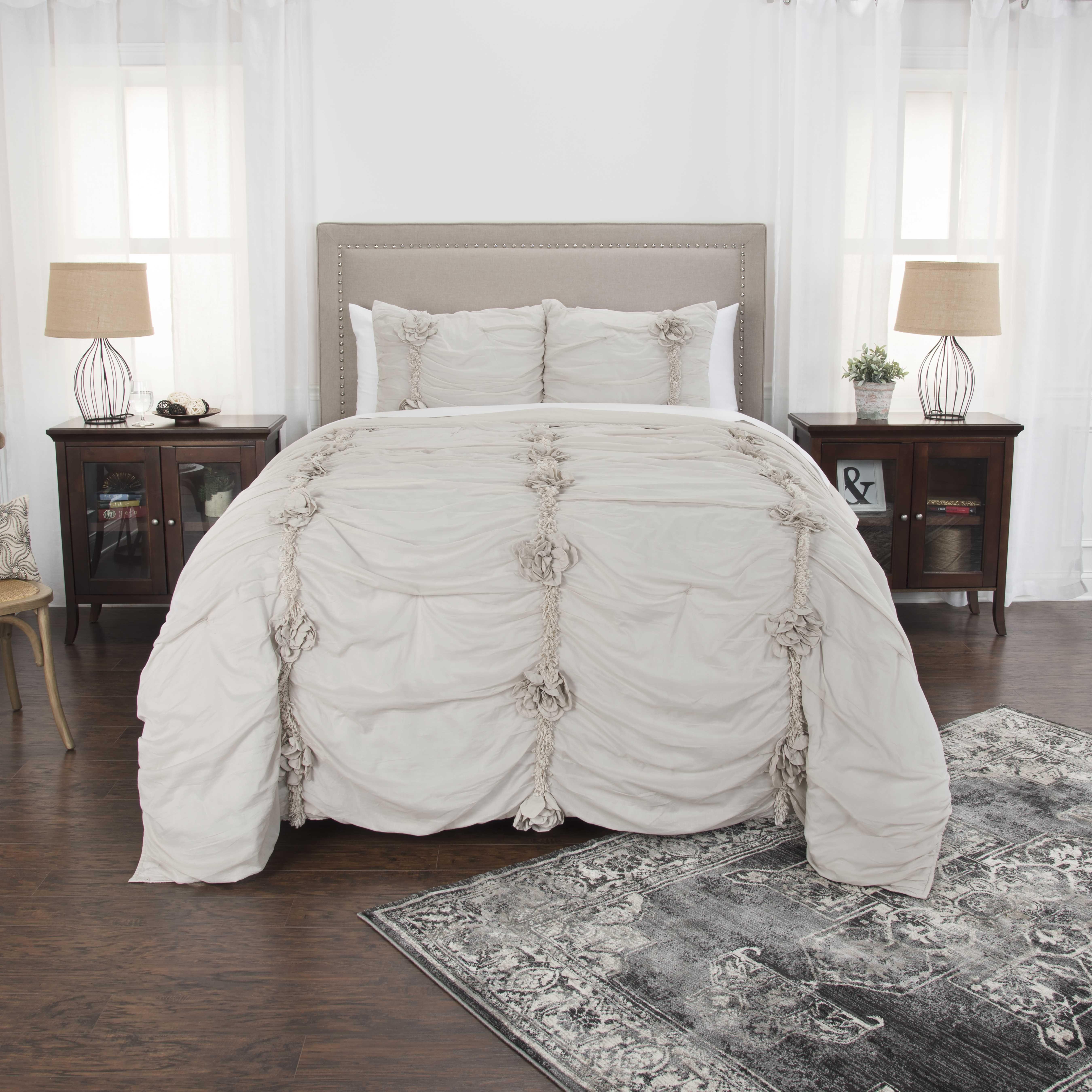 Rizzy Home Cotton 20 X26 Natural Stripe Bedding Sham Striped