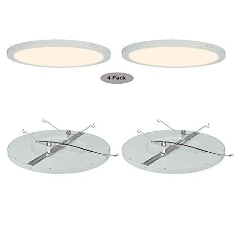 AVANLO LED Flush Mount Ceiling Light Fixture 12 Inch Disk Light 120V