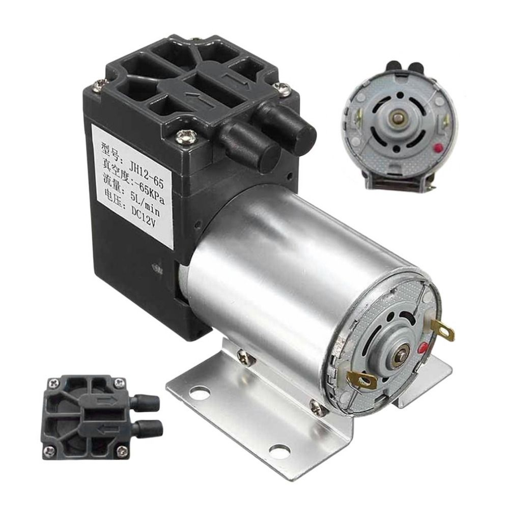 New Stable Dc12v Mini Vacuum Pump Negative Pressure Suction Pump 5l Min 120kpa For Gas Analysis Sampling Vacuum Pump Diaphragm Pump Pumps