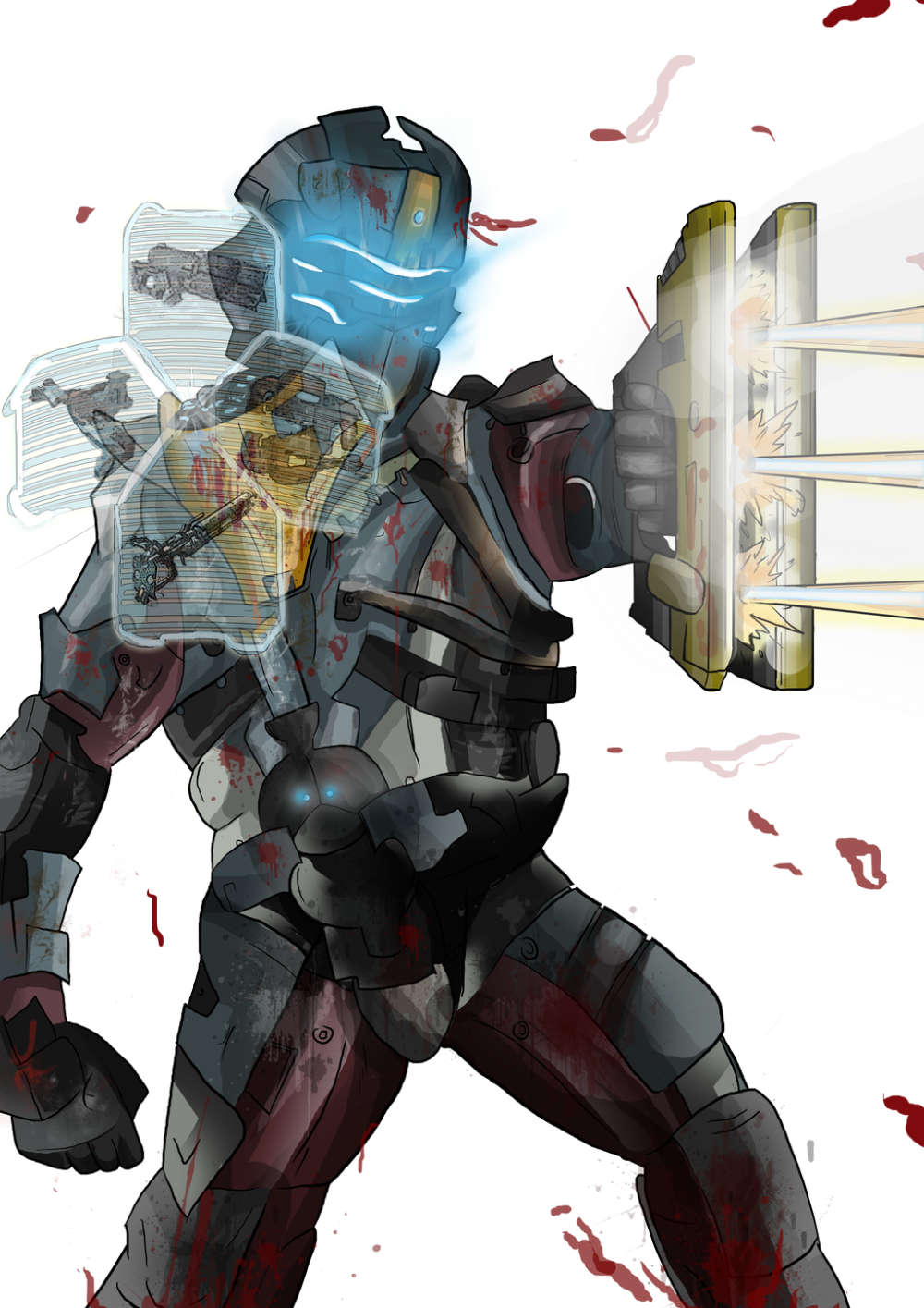 Dead Space 2 By Matthewhogben On Deviantart Dead Space Dead Futuristic Armour