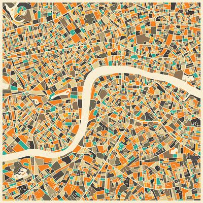 langley street abstract city map of london graphic art on wrapped canvas size 12 h x 12 w x 15 d