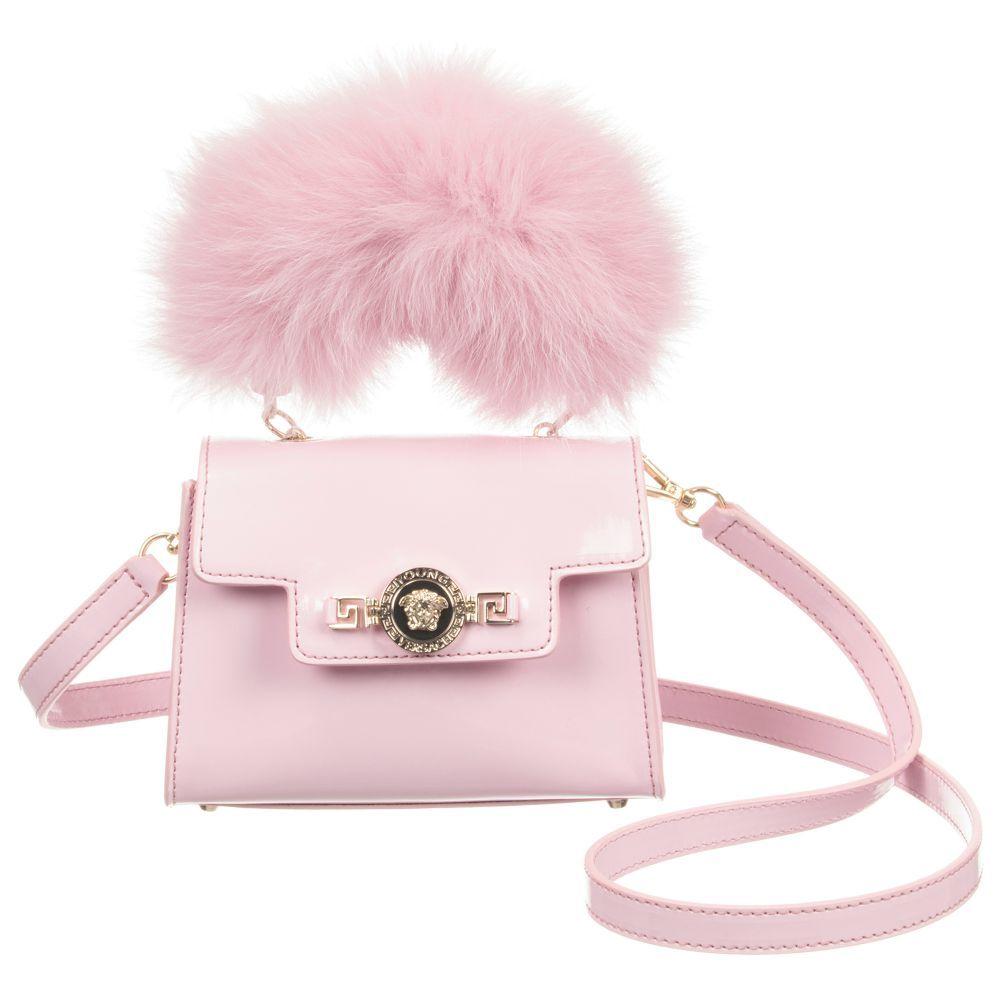 4bb4f9805c8487 Young Versace - Pink Fur Handle Handbag (16cm)