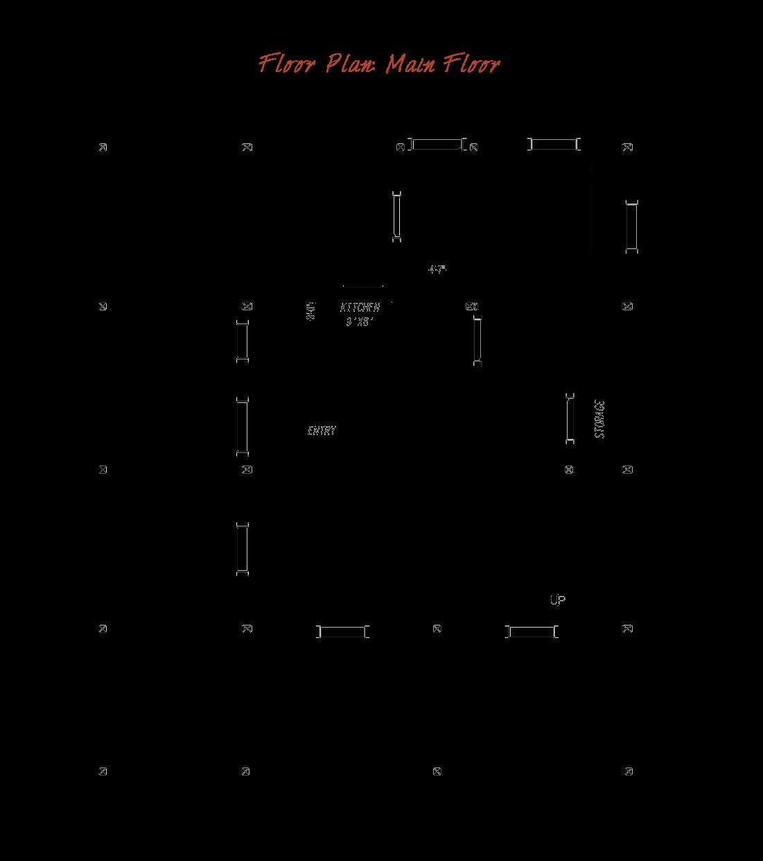 Pre Designed Barn Home Main Floor Plan Layout