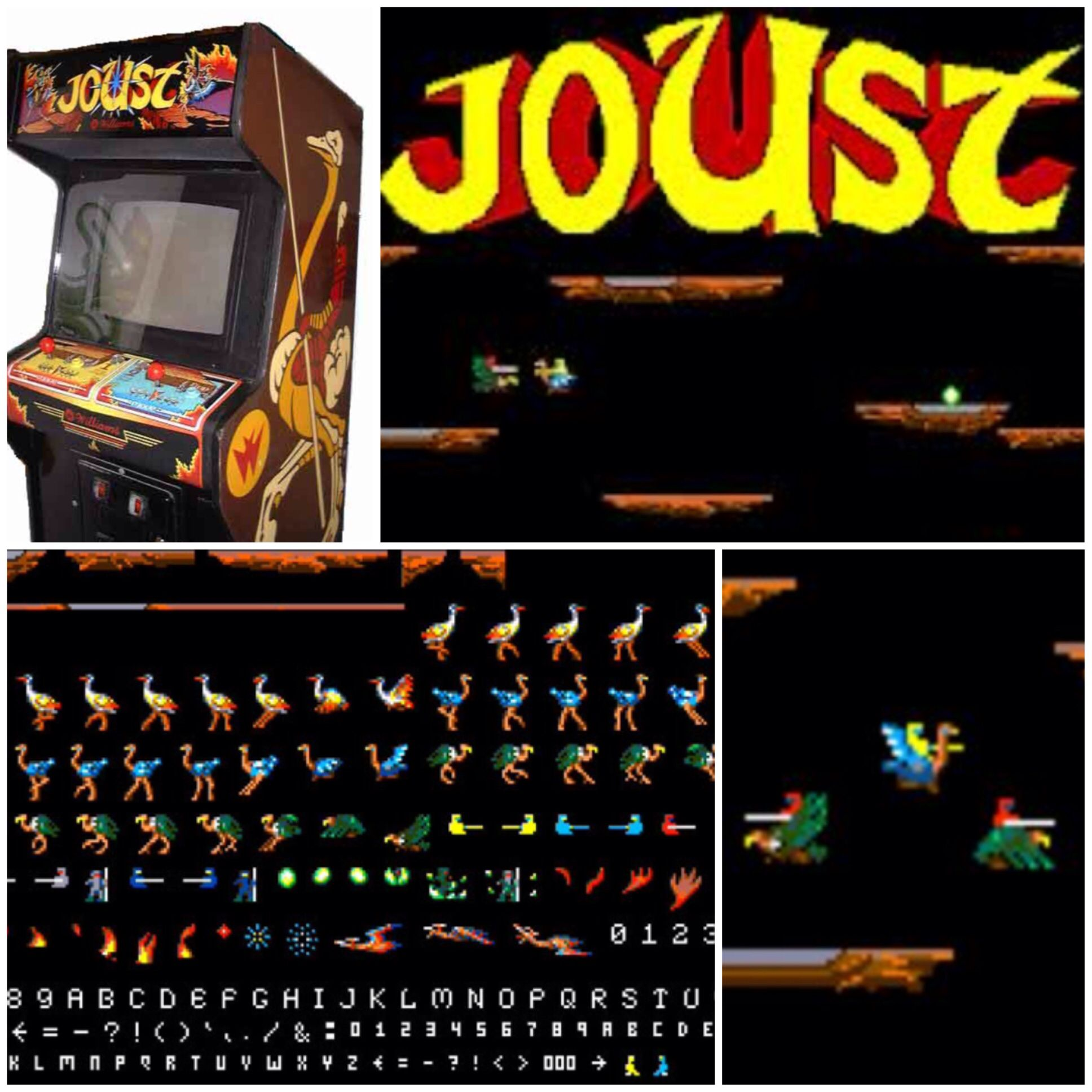 Joust is an arcade game developed by Williams Electronics and