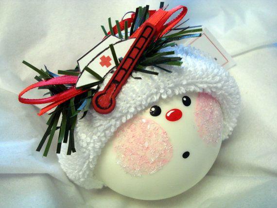 Etsy listing at https://www.etsy.com/listing/64495731/nurse-handmade-christmas-ornament-hand