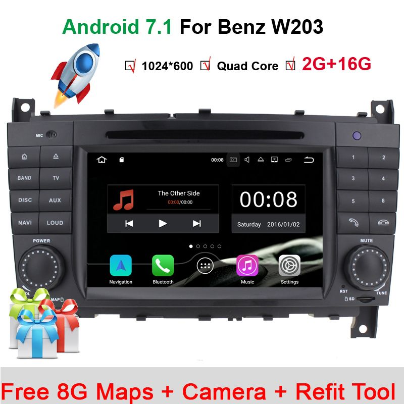 Android 7 1 Car DVD for Mercedes/Benz C Class W203 2004-2007