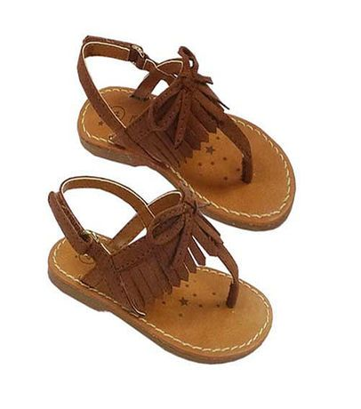 Koala Kids Girls Brown Hard Sole Fringed Sandals Infant Toddler Baby Girl Shoes Cute Baby Shoes Baby Girl Clothes