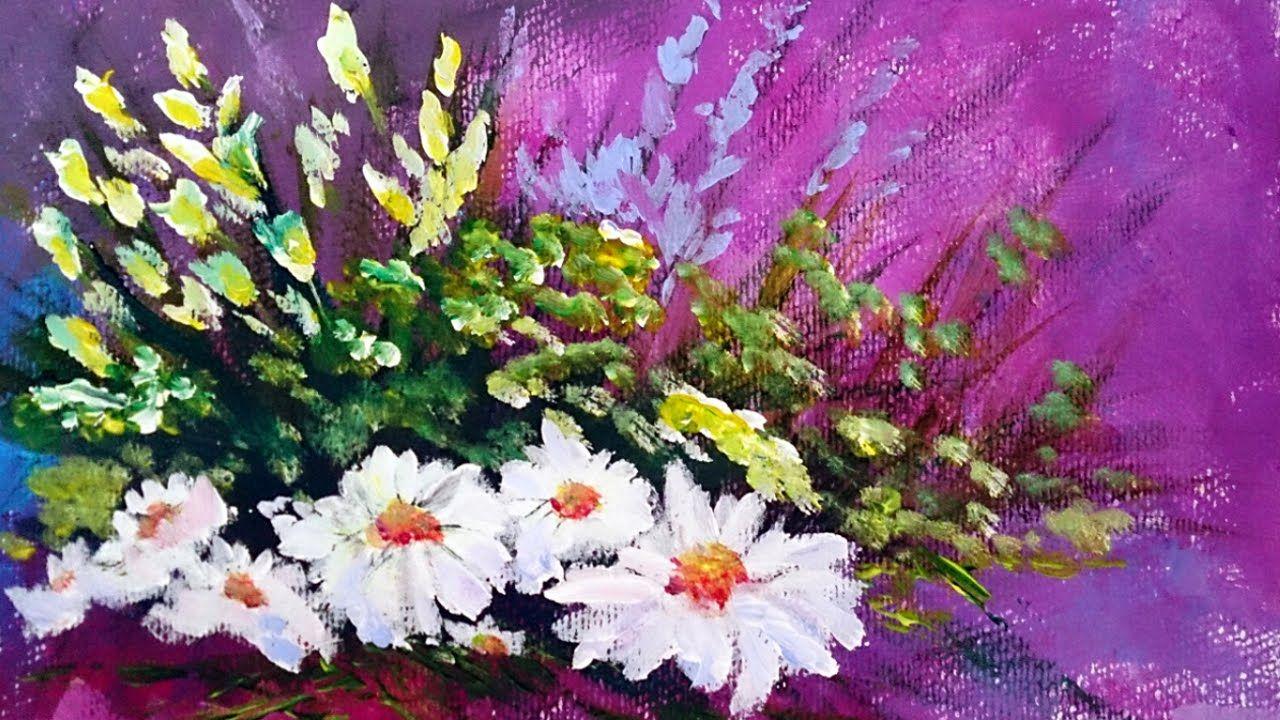 como pintar flores con acrilico paso a paso | Como pintar ...