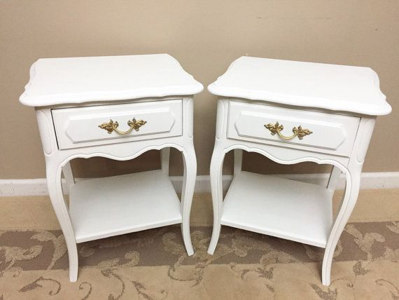 French Provincial Nightstands Bedside Tables By Madenewdesignct