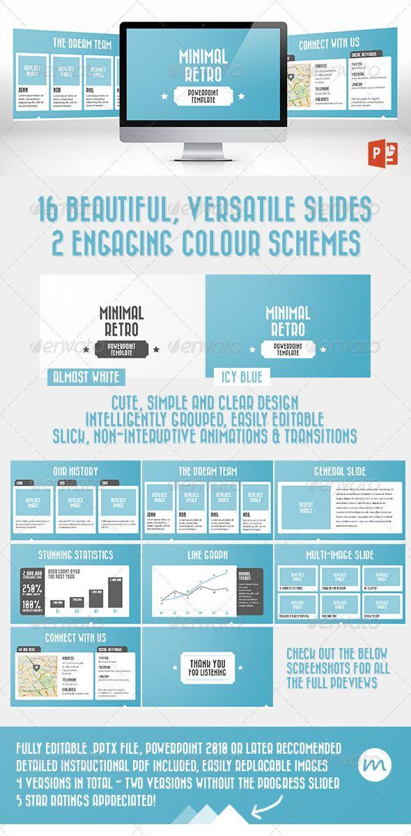 Minimal Retro PowerPoint Template | PowerPoint | Pinterest ...
