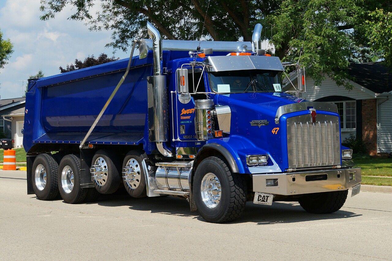 Kenworth custom T800 quad axle dump | Trucks • Big rigs ... Kenworth Dump Trucks Pics