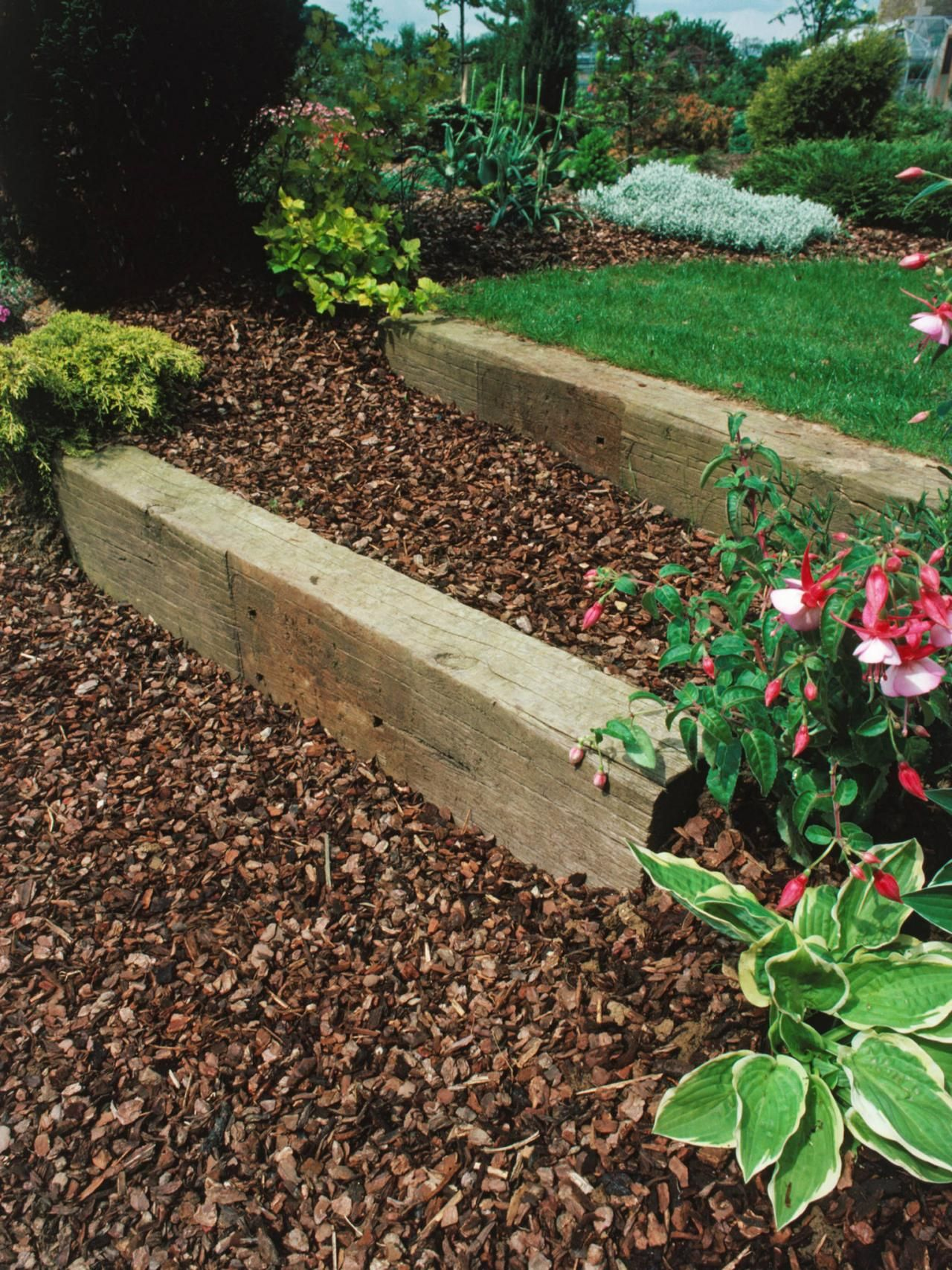 How to choose the best landscape design supplies and materials for your  next residential landscaping project - Landscaping With Railroad Ties Homes Railroad Ties Landscaping