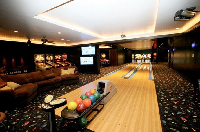 30 Suggestions For Home Installed Bowling Alley Lanes Home Bowling Alley Home Game Room Basement