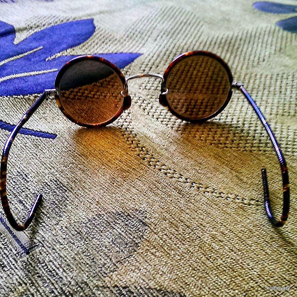 New Vintage Sunglasses 30s WW2 Brown Teashades Bakelite Round Lens Wedding Gift