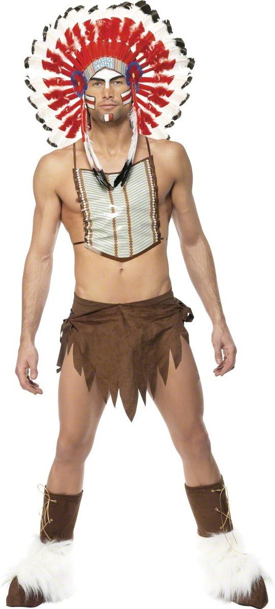 Costume indiano Village People™ uomo  Questo costume completo include il  pettorale 69bbfafd65c