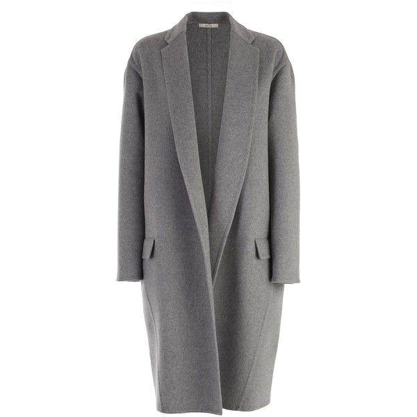 Celine Coat found on Polyvore featuring outerwear, coats, jackets, celine coat, gray coat, cashmere coats, wool cashmere coat and grey coat
