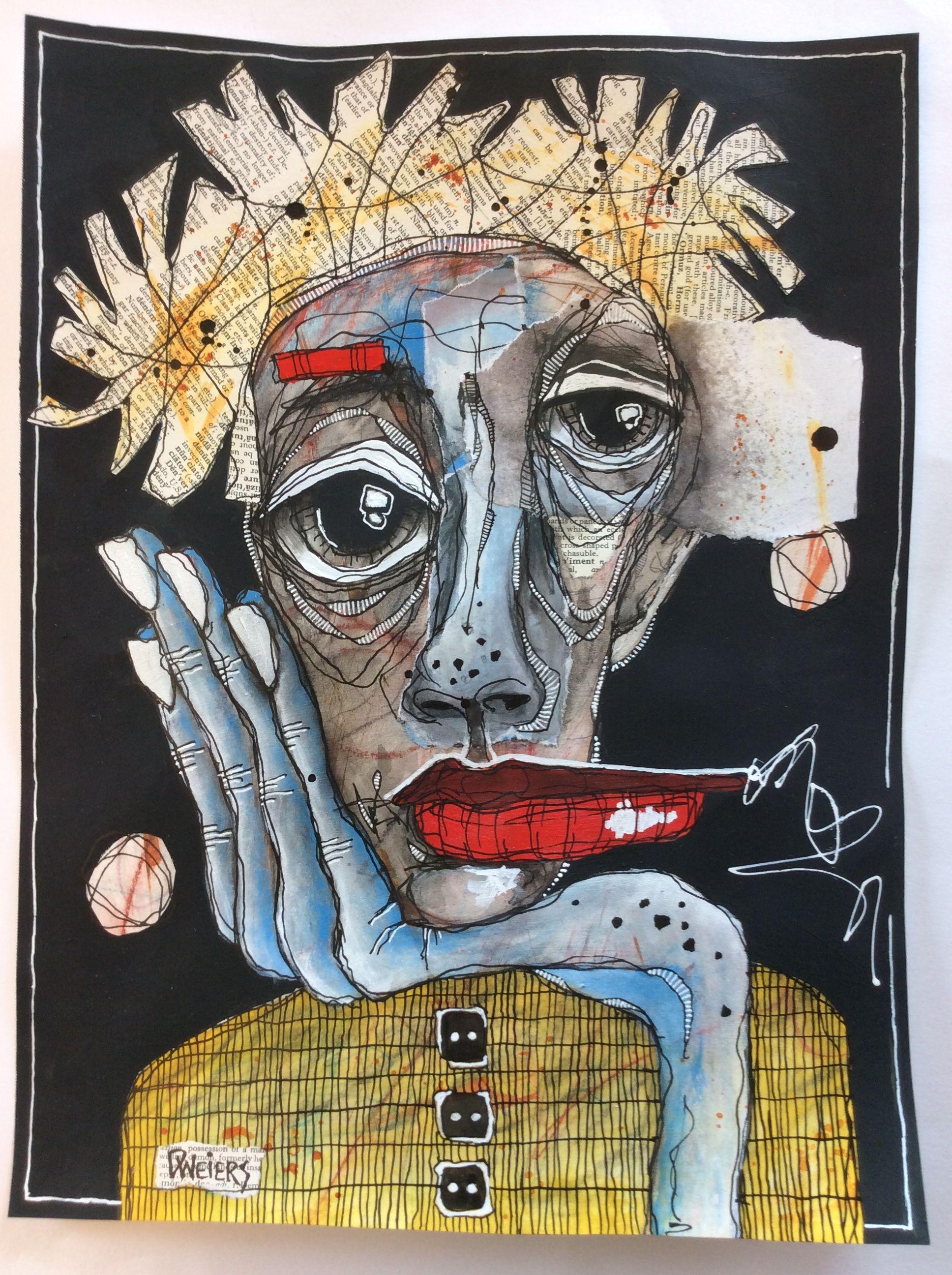 Deb Weiers The Blue Hand 10x14 In 2019 Art Art