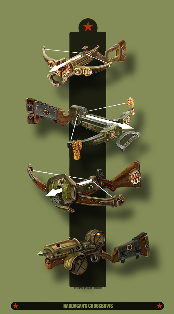 Hadagan's Crossbow_(color) by ~Popov-SM on deviantART
