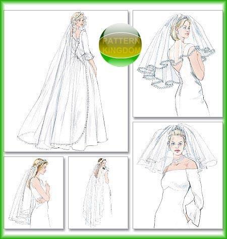 McCalls 4126 Elegant Wedding Bridal Veil Patterns