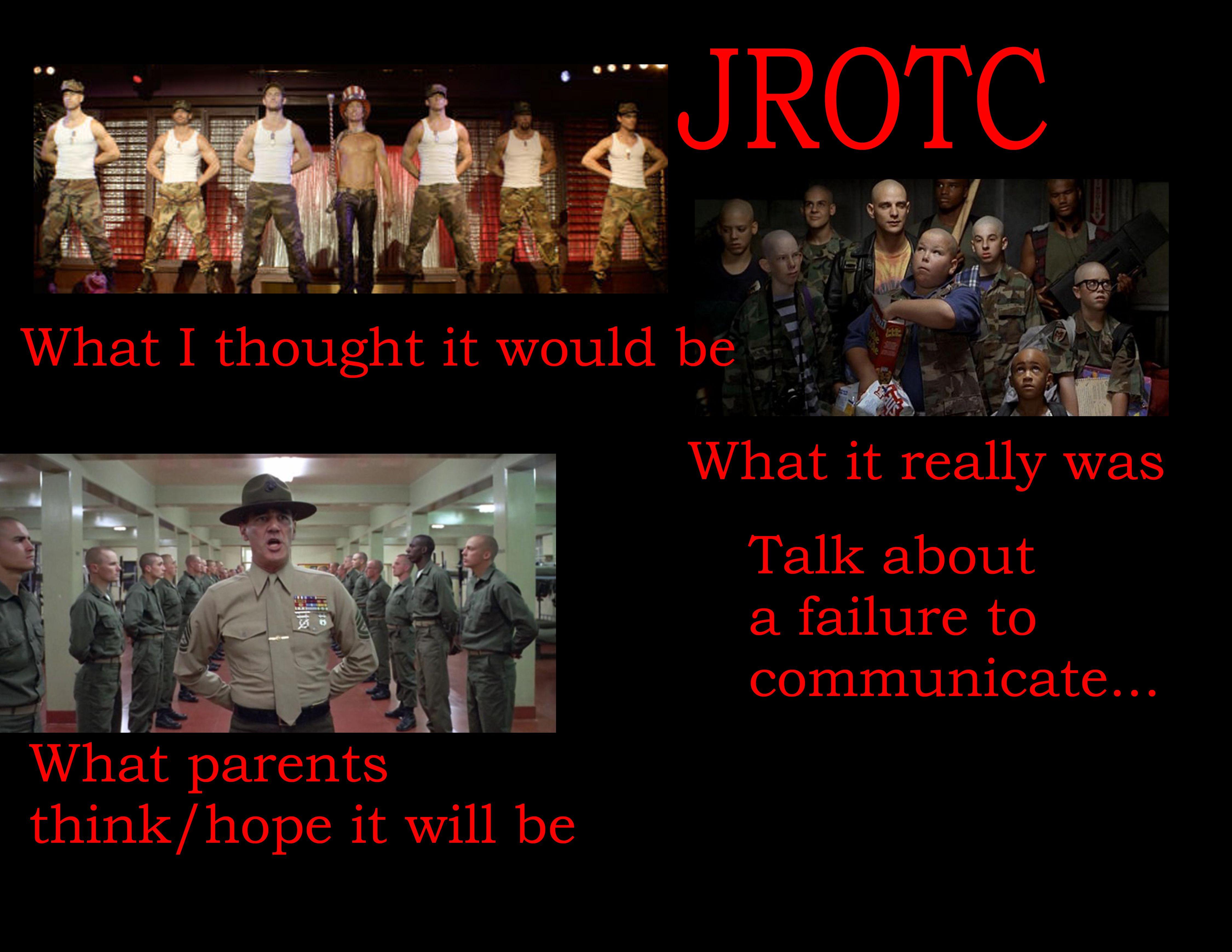 Not far from the truth... JROTC Pinterest Njrotc
