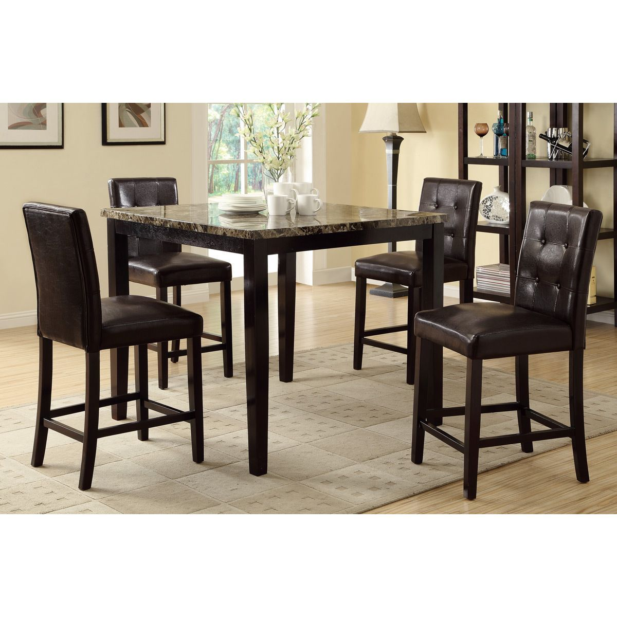 Create an elegant dining space with the piece Bayfield dining set