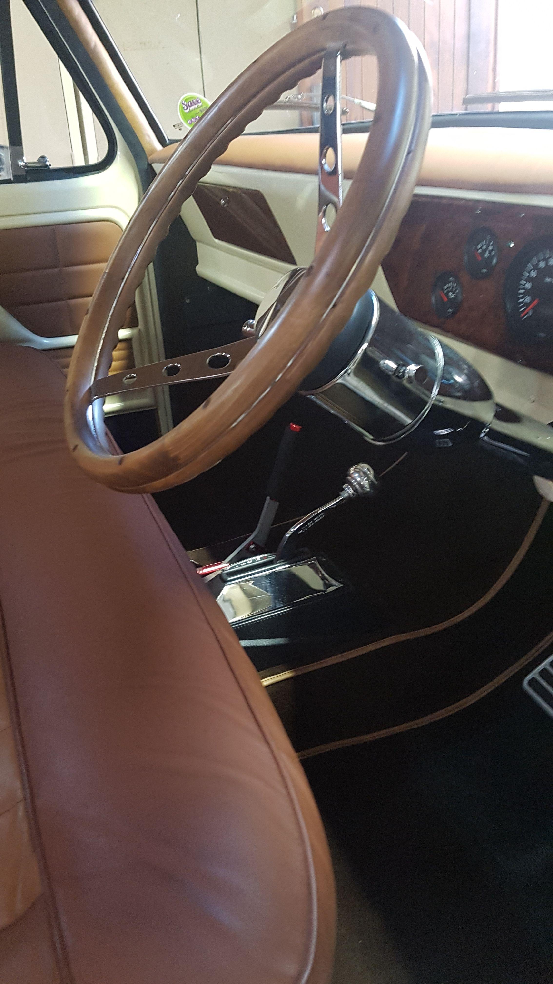 Ford F100 79 Dentside Rod Steering Wheel And Column Ford Trucks Steering Wheel Ford