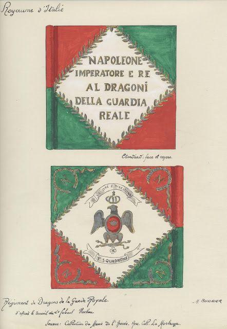 Regno d'Italia  - Stendardo dei Dragoni Imperiali