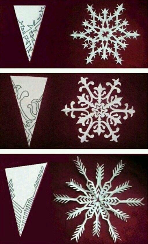Pin Oleh Sed K Di Art Kerajinan Natal Keping Salju Bunga Kertas