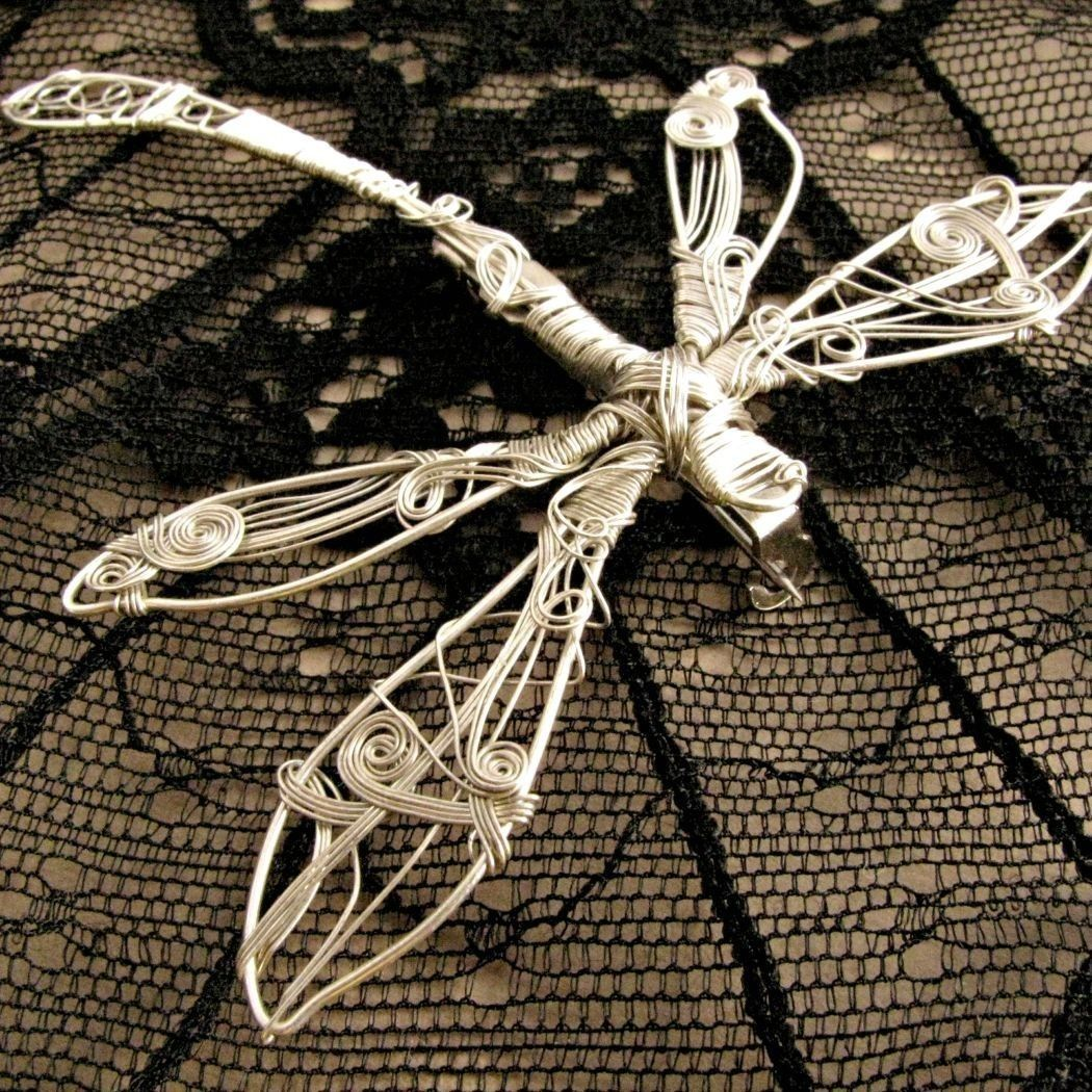 Dragonfly Pin Silver. Wire Wrapped Silver Brooch.. $77.00, via Etsy ...