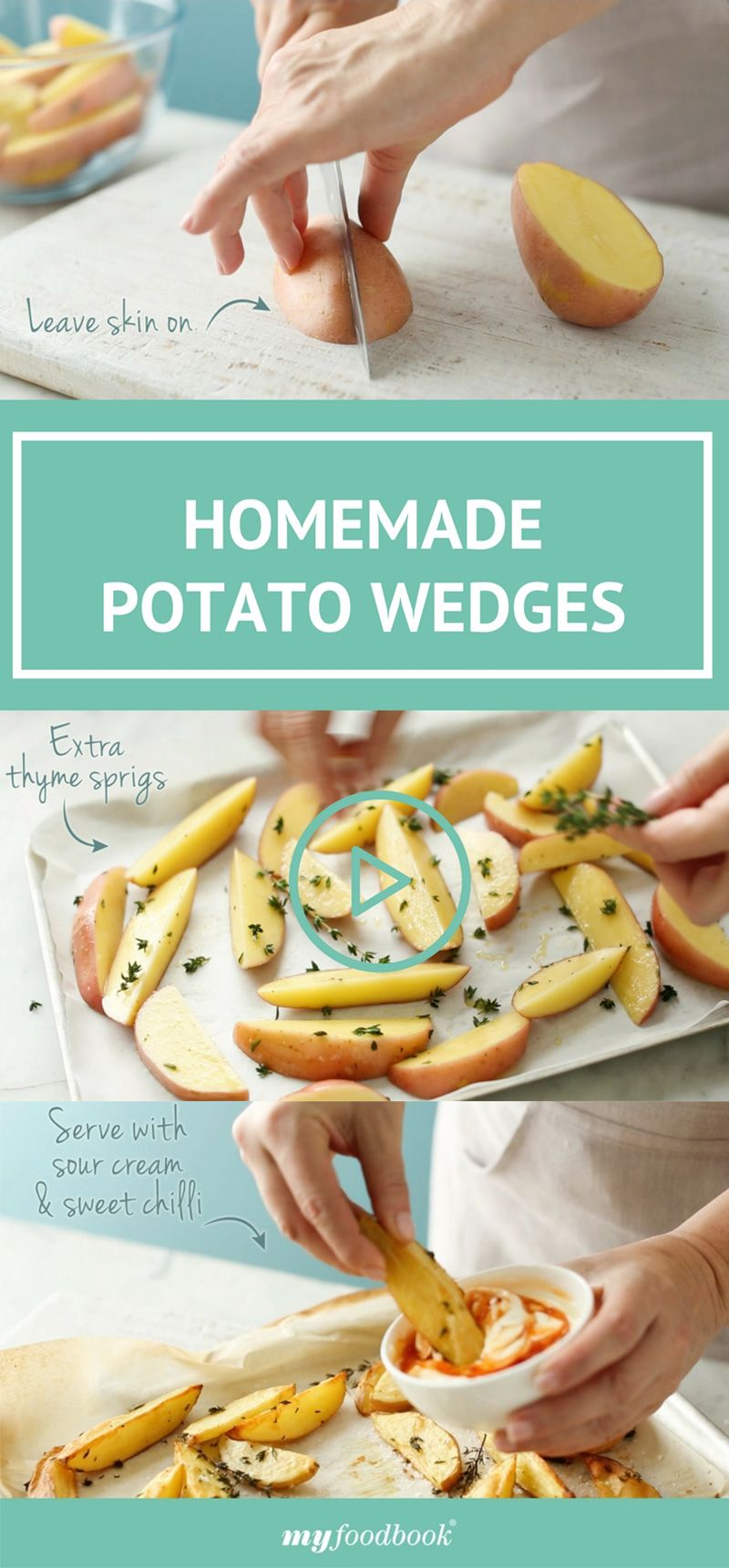 Make easy oven-baked potato wedges with this cooking school video by ...