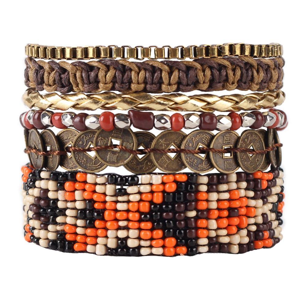 Newei new luxury weave bead handmade bracelet fashion sequins