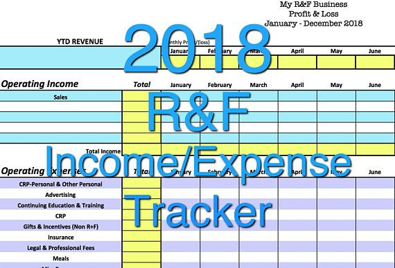 Rodan + Fields Income/Expense Tracker, 2016 Exclusive Monthly Cash
