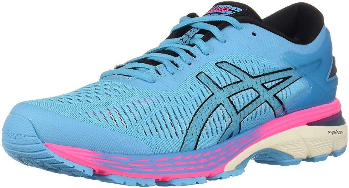 Amazon Com Asics Women S Gel Kayano 25 Running Shoes 8m Aquarium Black Road Running In 2020 Asics Women Gel Running Shoes Asics Women