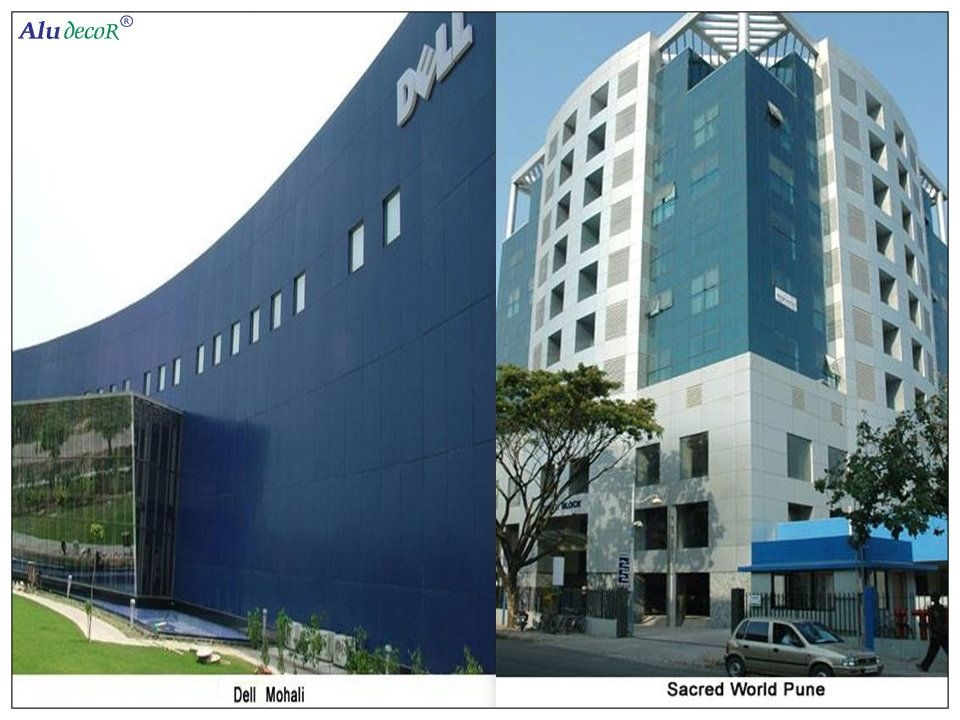 Acp And Glass Cladding Work By Aludecor For Two Most Known Buildings In Pune And Mohali Building Cladding Structures