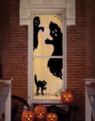 Décorations de fenêtre pour l'halloween #diyhalloweendéco
