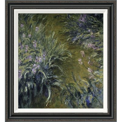 "Global Gallery 'The Path Through the Irises' by Claude Monet Framed Painting Print Size: 28"" H x 25.74"" W"