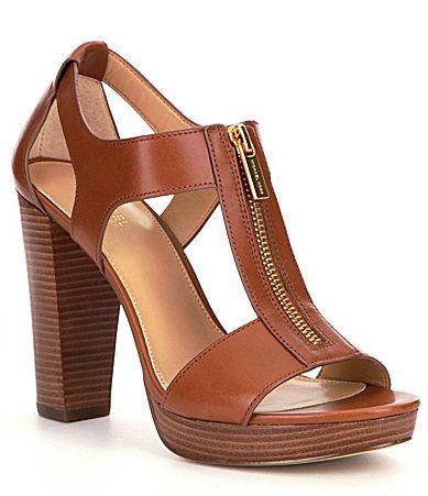 59f19cff644b MICHAEL Michael Kors Berkley Leather Zip-Up Block Heel Sandals ...