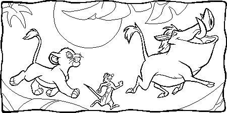 lion kingssimba pumbaa and timone on the log  Simba Timon Pumbaa