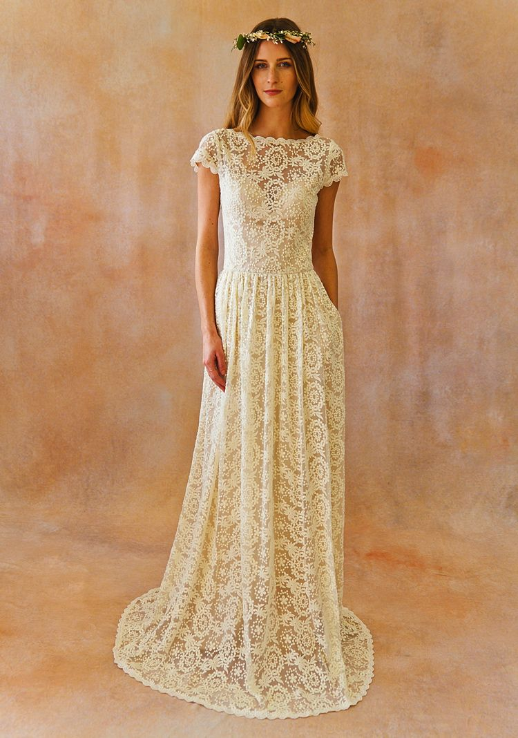 Catherine wedding dress with pockets in pretty things