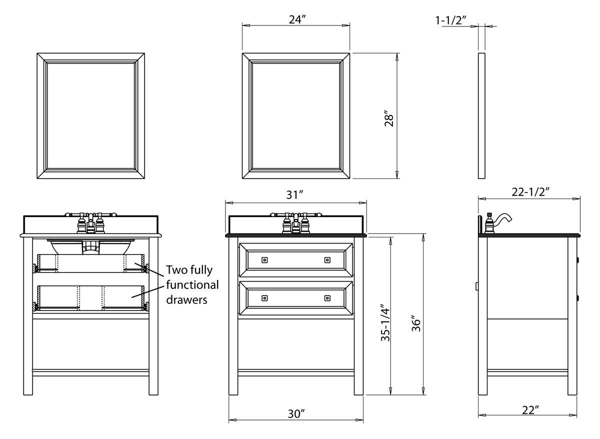 dimensions of small bathroom vanity bathroom 11407