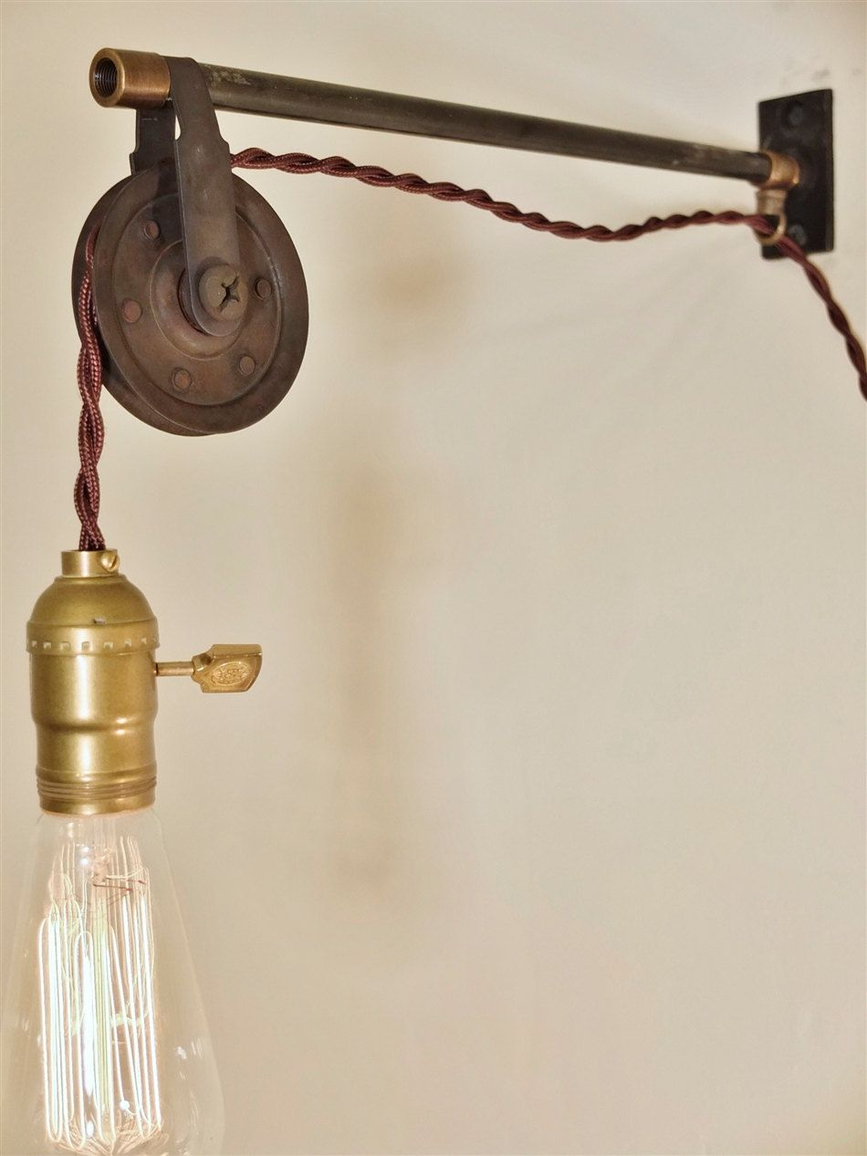 Machine Age Lamp Sconce Beautiful In Colour Copper Shade Cheap Sale Vintage Industrial Wall Mount Light