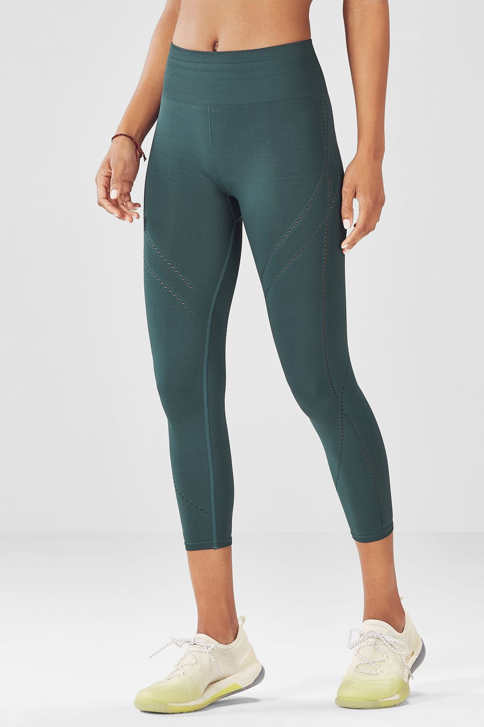 9ca5f3233dde9b Feel free and supported all at once in our seamless capris, built with  light compression and a comfy ribbed high-rise waist. Your stretch sesh  never felt so ...