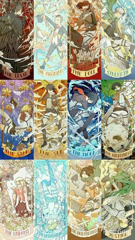 Beautiful Snk Tarot Cards Shingekinokyojin Anime Fandom